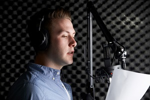 Recording Studio English and Foreign Language Voice Examples